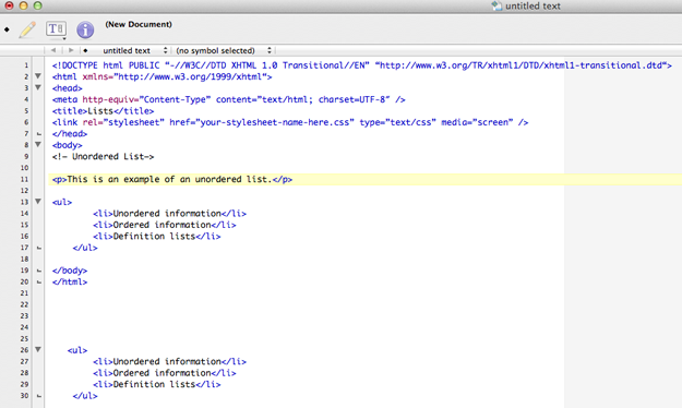 ordered and unordered line in html